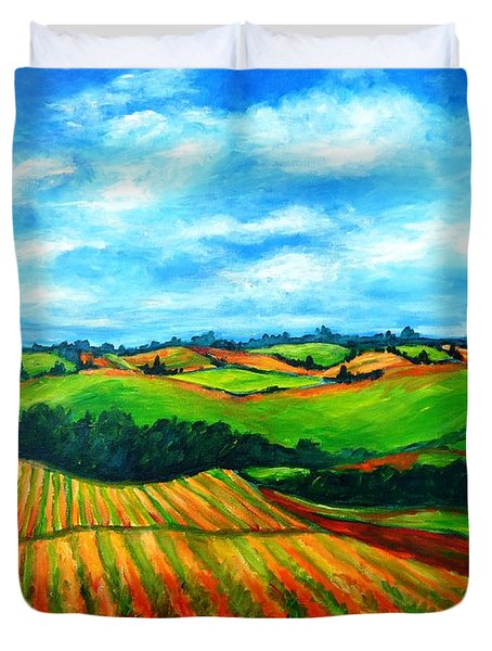 Spring In Prince Edward Island Duvet Cover