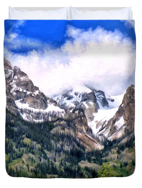 Spring In The Grand Tetons Duvet Cover by Michael Pickett