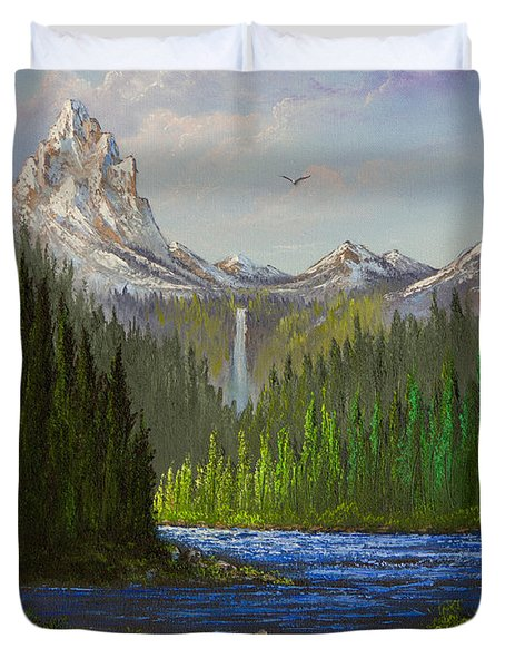 Spring In The Rockies Duvet Cover by C Steele