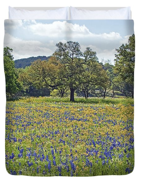 Spring In The Texas Hill Country Duvet Cover