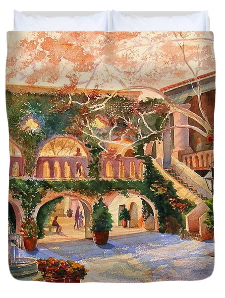 Spring In Tlaquepaque Duvet Cover by Marilyn Smith