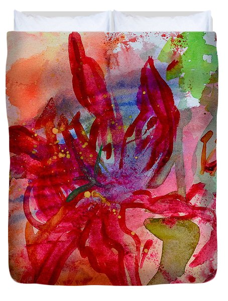 Spring Is A Messy Business Duvet Cover by Beverley Harper Tinsley