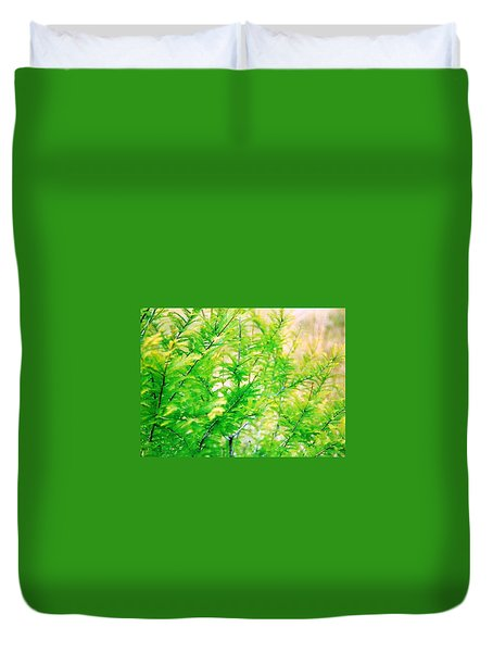 Spring Cypress Beauty Duvet Cover