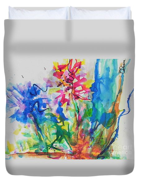 Spring Is In The Air Duvet Cover by Chrisann Ellis