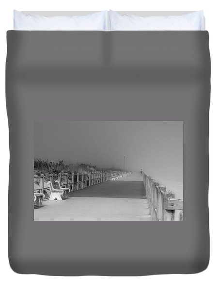 Spring Lake Boardwalk - Jersey Shore Duvet Cover