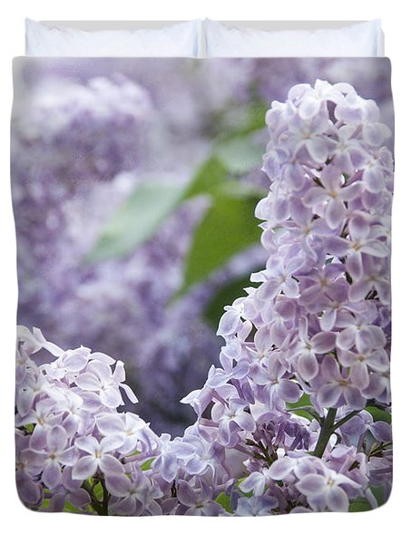 Spring Lilacs In Bloom Duvet Cover