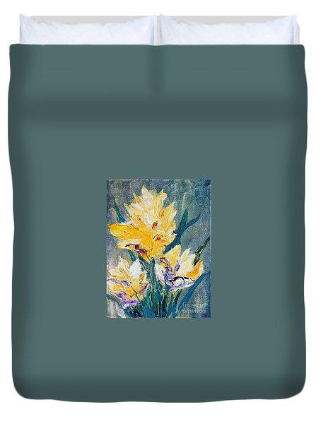 Spring Love Duvet Cover by Teresa Wegrzyn