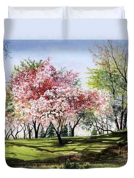 Spring Morning Duvet Cover by Barbara Jewell