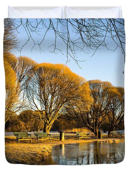 Spring Morning In The Park Duvet Cover