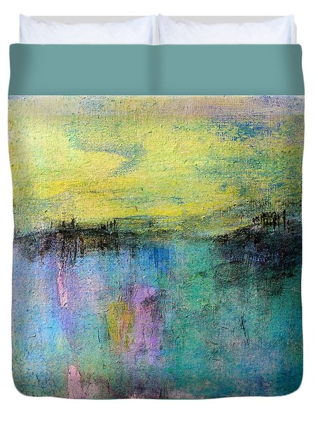 Duvet Cover featuring the painting Spring Morning by Jim Whalen