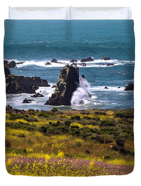 Spring On The California Coast By Denise Dube Duvet Cover