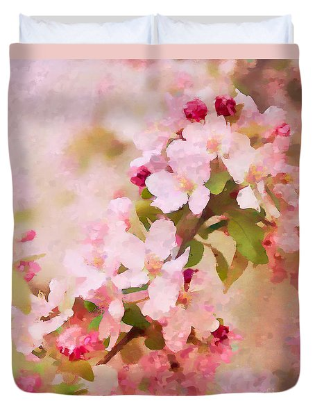 Spring Pink Duvet Cover by Betty LaRue