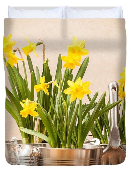 Spring Planting Duvet Cover by Amanda Elwell