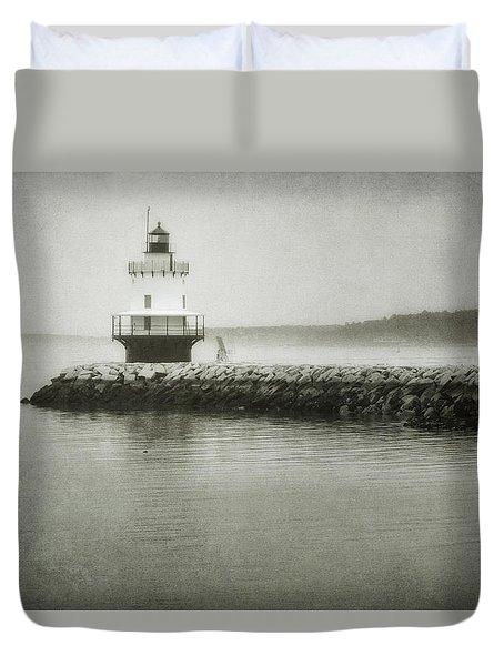 Spring Point Ledge Light Duvet Cover by Joan Carroll