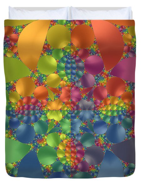 Spring Promises Fractal Duvet Cover by Judi Suni Hall