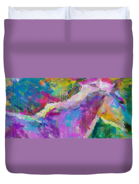Spring Rain Duvet Cover by Greg Collins