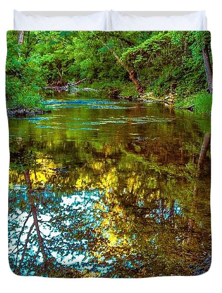 Spring Reflection  Duvet Cover by Peggy Franz