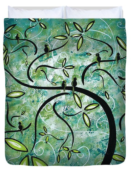 Spring Shine By Madart Duvet Cover by Megan Duncanson