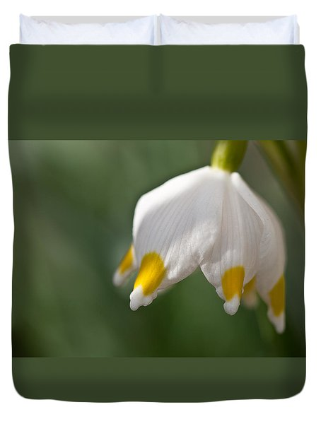 Spring Snowflake Duvet Cover by Andreas Levi