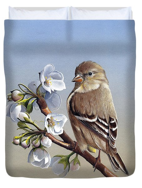 Duvet Cover featuring the painting Spring Splendor by Mike Brown