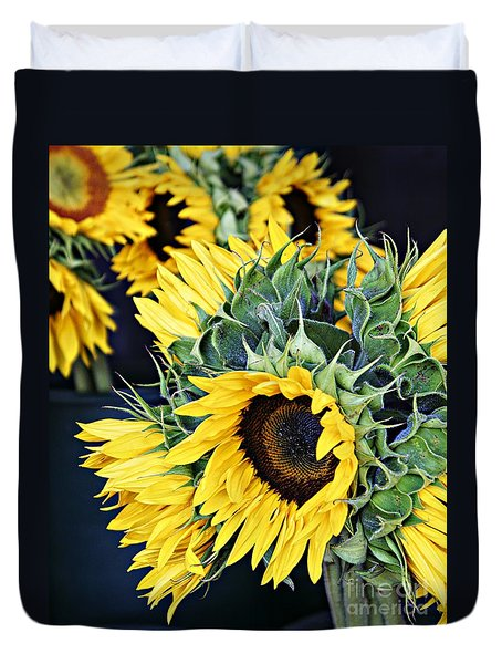Spring Sunflowers Duvet Cover
