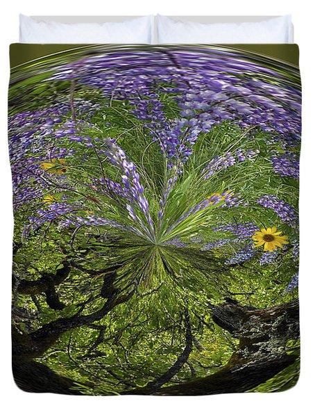 Spring Swirl Duvet Cover by Jean Noren