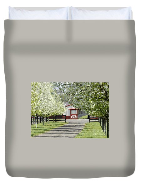 Spring Time At The Farm Duvet Cover