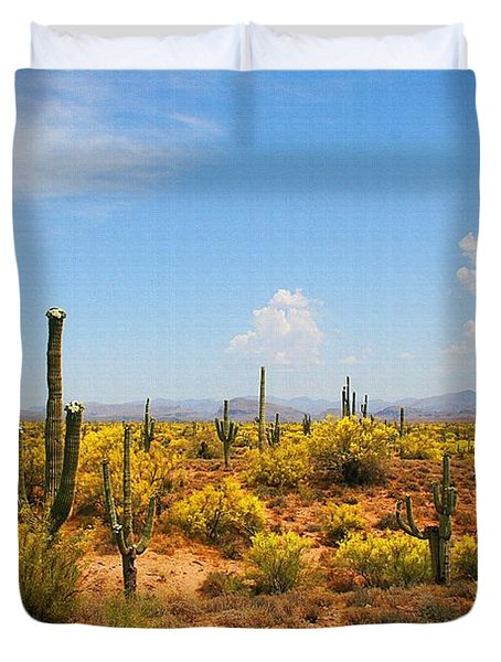 Duvet Cover featuring the digital art Spring Time On The Rolls. by Tom Janca