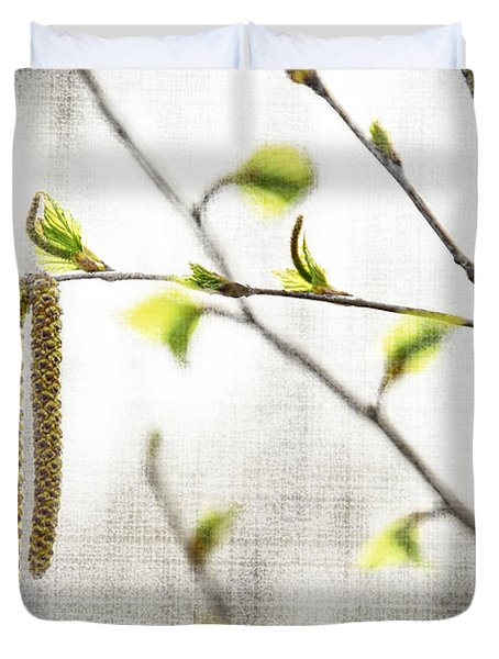 Spring Tree Branch Duvet Cover