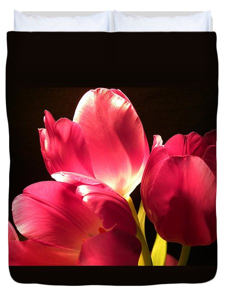 Spring Tulips Duvet Cover by Julie Palencia