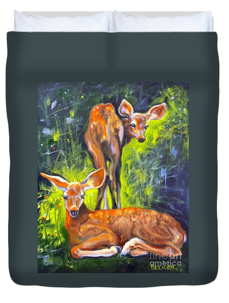 Spring Twins 1 Duvet Cover