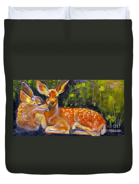 Spring Twins 2 Duvet Cover