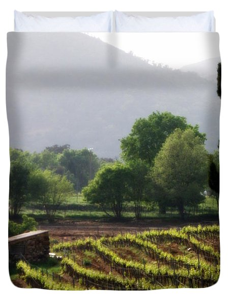 Spring Vines In Provence Duvet Cover by Lainie Wrightson