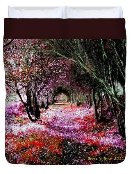 Spring Walk In The Park Duvet Cover