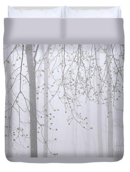 Spring Woodland Fog 2 Duvet Cover