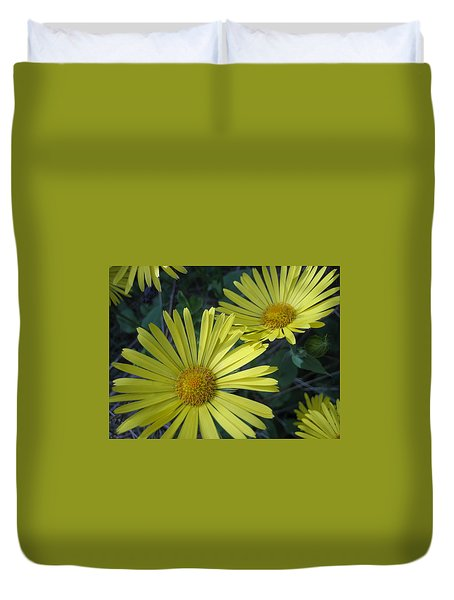 Duvet Cover featuring the photograph Spring Yellow  by Cheryl Hoyle