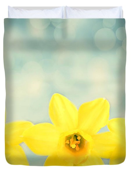 Spring Yellow Duvet Cover by Darren Fisher
