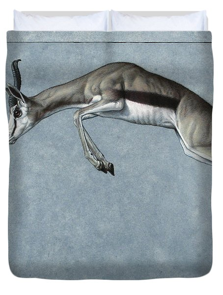 Duvet Cover featuring the painting Springbok by James W Johnson