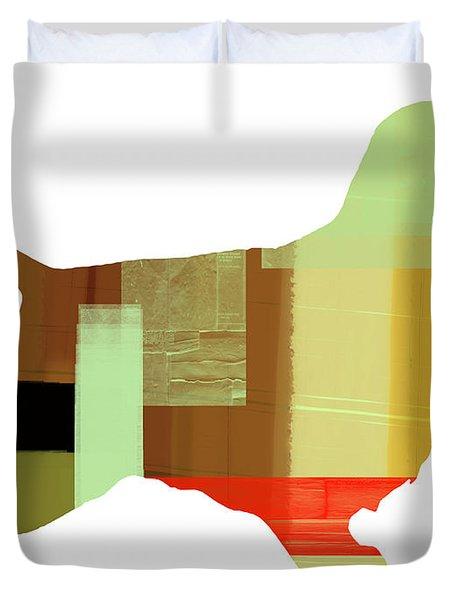 Springer Spaniel  Duvet Cover by Naxart Studio