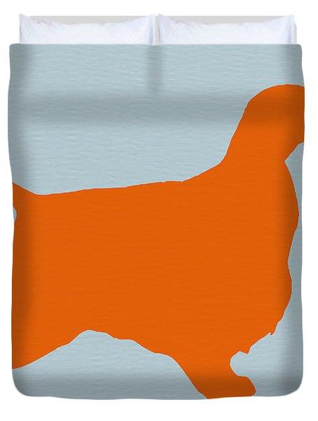 Springer Spaniel Orange Duvet Cover by Naxart Studio
