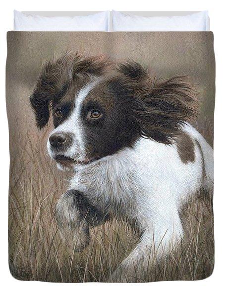 Springer Spaniel Painting Duvet Cover