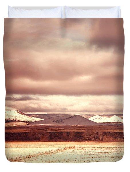 Springerville Arizona View Duvet Cover by Donna Greene