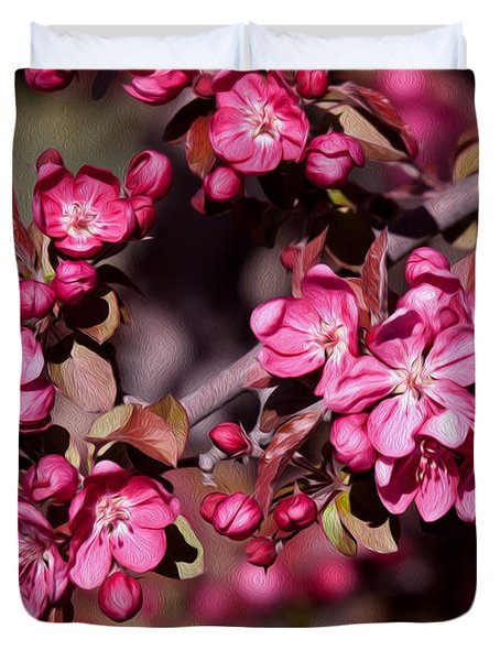Duvet Cover featuring the photograph Spring's Arrival by Roselynne Broussard
