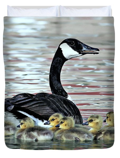 Spring's First Goslings Duvet Cover