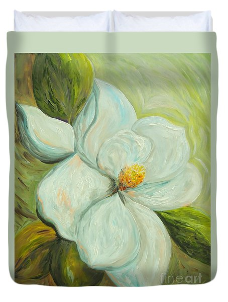 Spring's First Magnolia 2 Duvet Cover by Eloise Schneider
