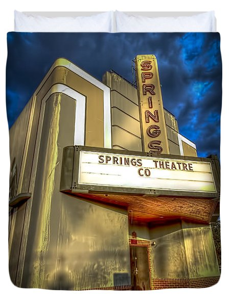 Springs Theater Co Duvet Cover by Marvin Spates