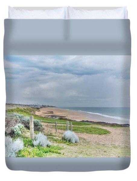 Springtime At The Beach Duvet Cover by Elaine Teague
