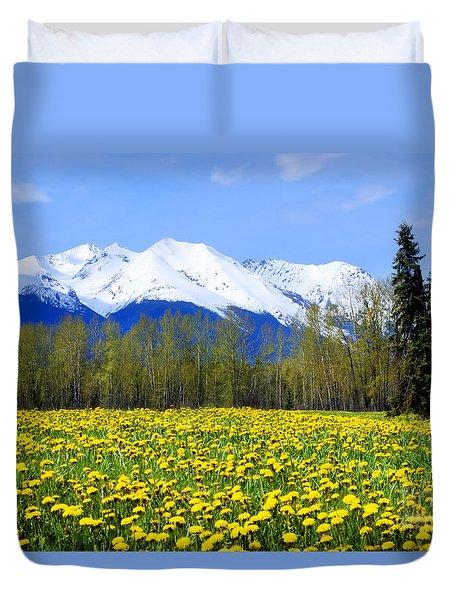 Springtime Dandelions Duvet Cover