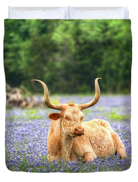 Springtime In Texas Duvet Cover