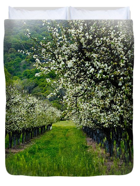 Springtime In The Orchard Duvet Cover